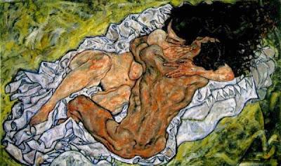 Amants abraçats (Egon Schiele)