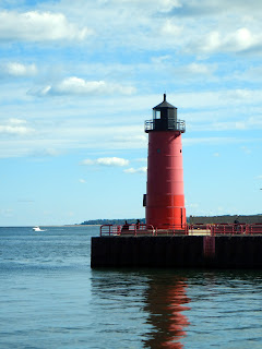 The Algoma Lighthouse in downtown Milwaukee, Wisconsin