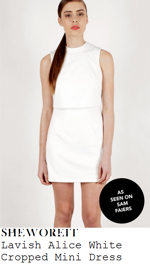 sam-faiers-white-sleeveless-cropped-layered-shift-mini-dress-towie-baby-shower