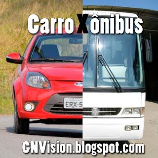 São Paulo: Carro ou ônibus