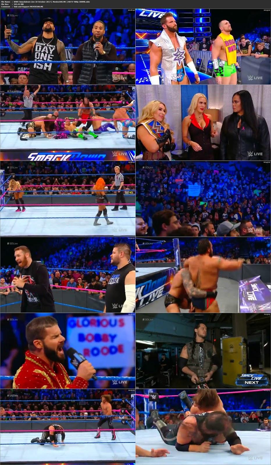 WWE Smackdown Live 10 October 2017 HDTV 343MB Download 480p at createkits.com