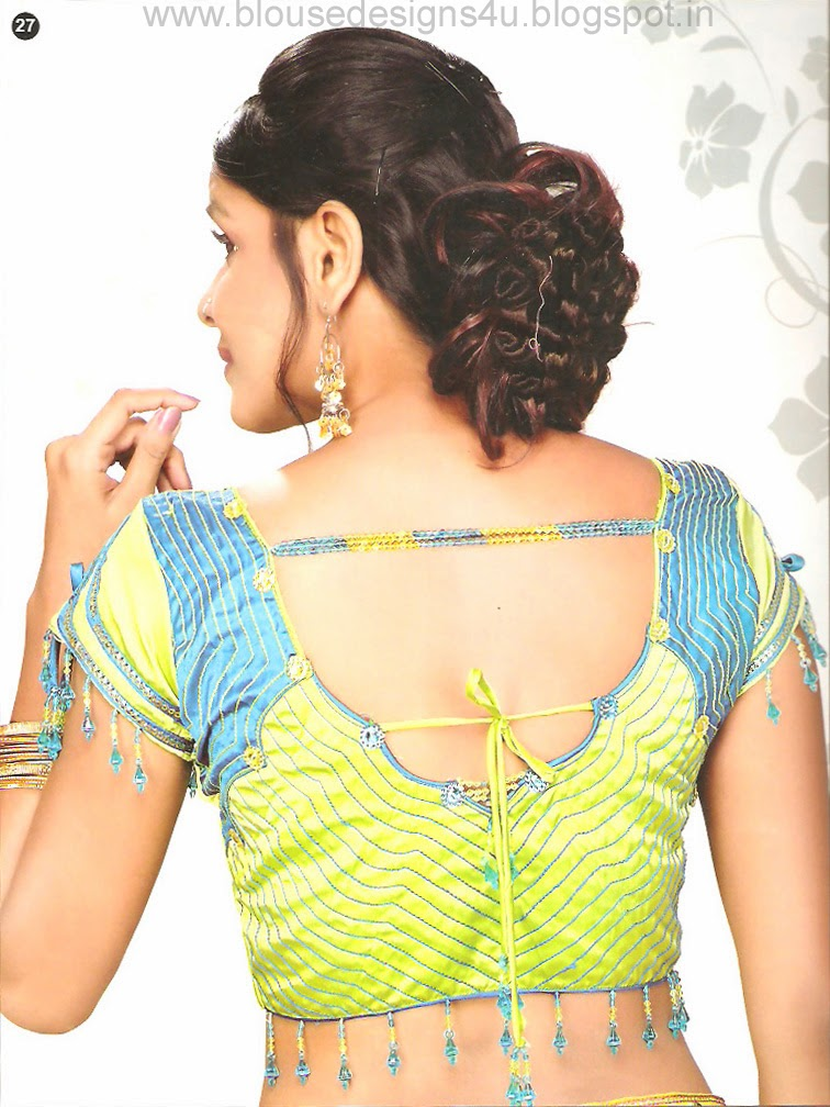 Latest Fashion Blouse Designs Collection 3 Blouse Designs Patch Maggam Kundan Lace
