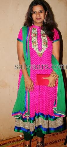 Pink Bandhini Chiffon Salwar