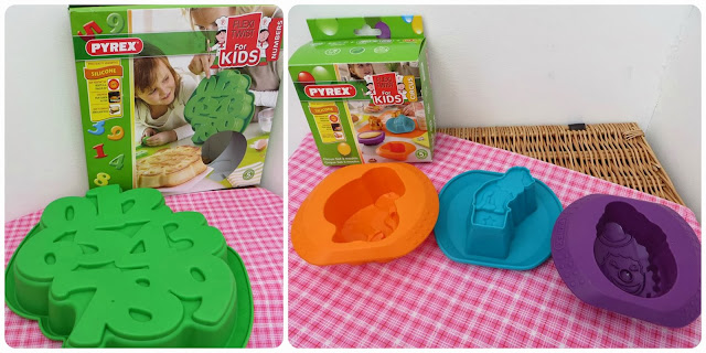 Pyrex Flexi Twist for Kids Moulds Cake Silicone Bakeware Children