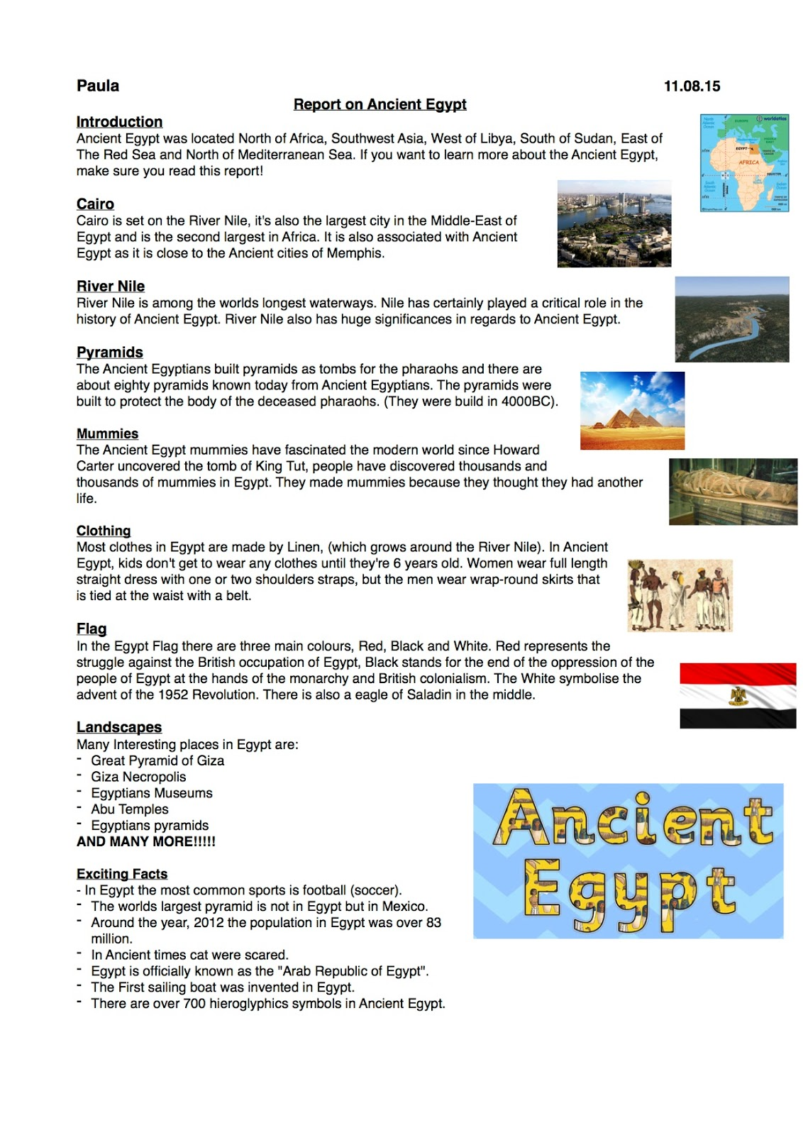 a report on searching for ancient egypt An ancient egyptian tomb, dating back more than 4,000 years, was discovered by archaeologists about 12 miles outside of cairo, the country's capital the finding marks the first discovery to be announced in 2018, ahram online, an egyptian news organization, reports the tomb is thought to have.