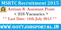 MSRTC Vacancies 2015