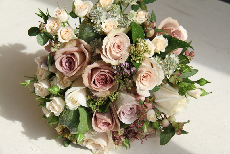 The Flower Magician Vintage Bridal Bouquet To Tone With Mocha