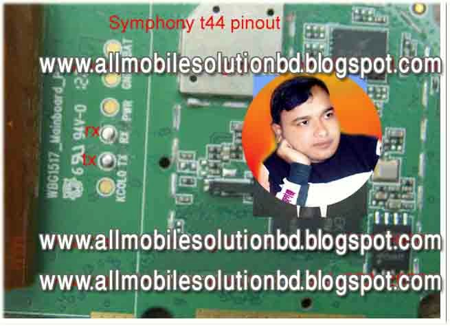 symphony t44 pin-out problem solution