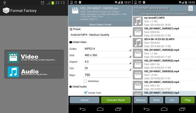 Download Official Format Factory for Android Pro version .APK