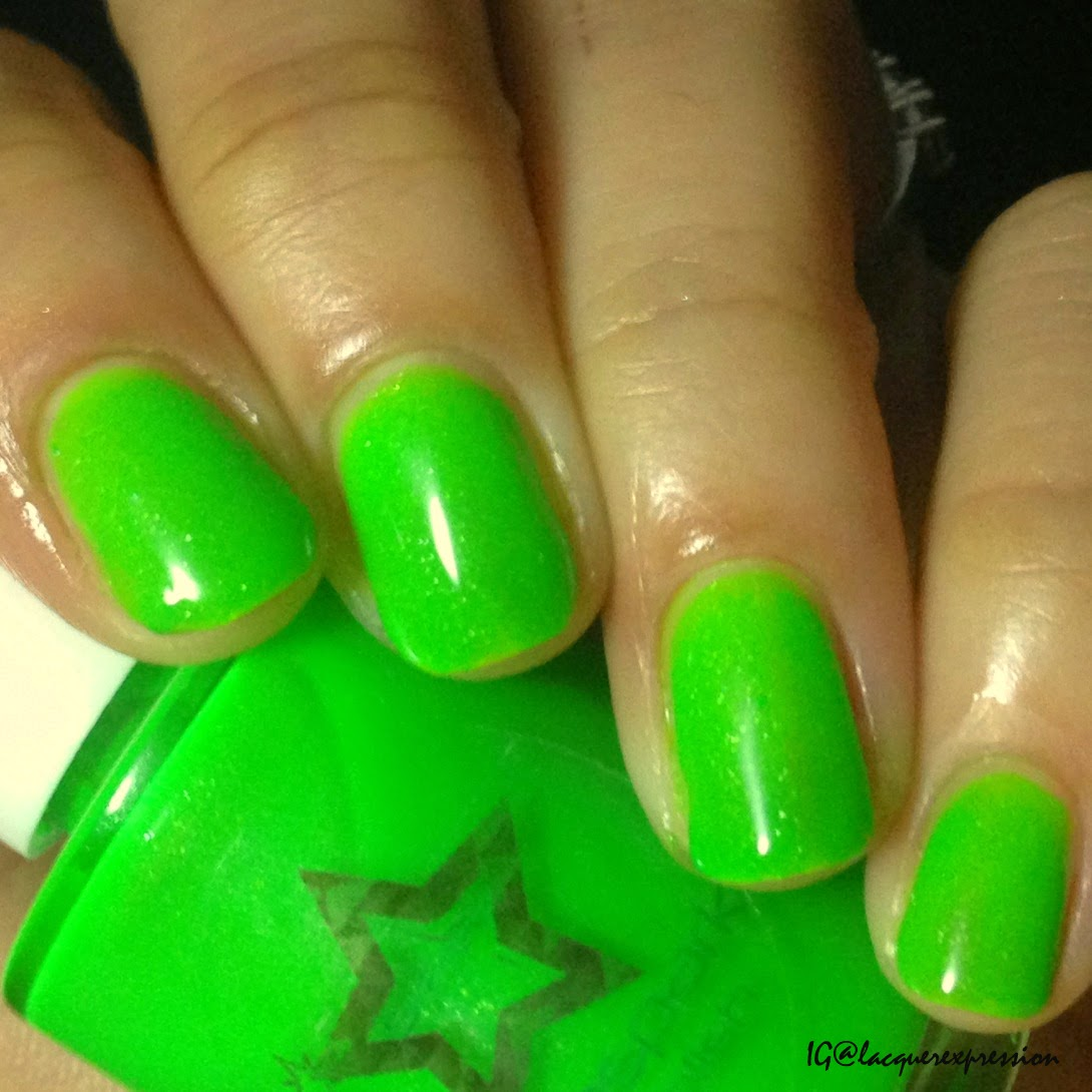 swatch and review of Peekaboo nail polish by Shinespark