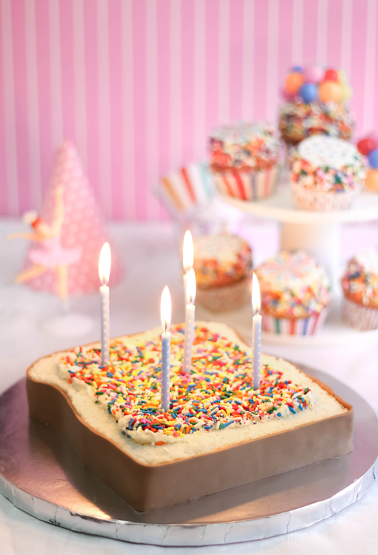 Fairy Bread Party Cake Sprinkle Bakes