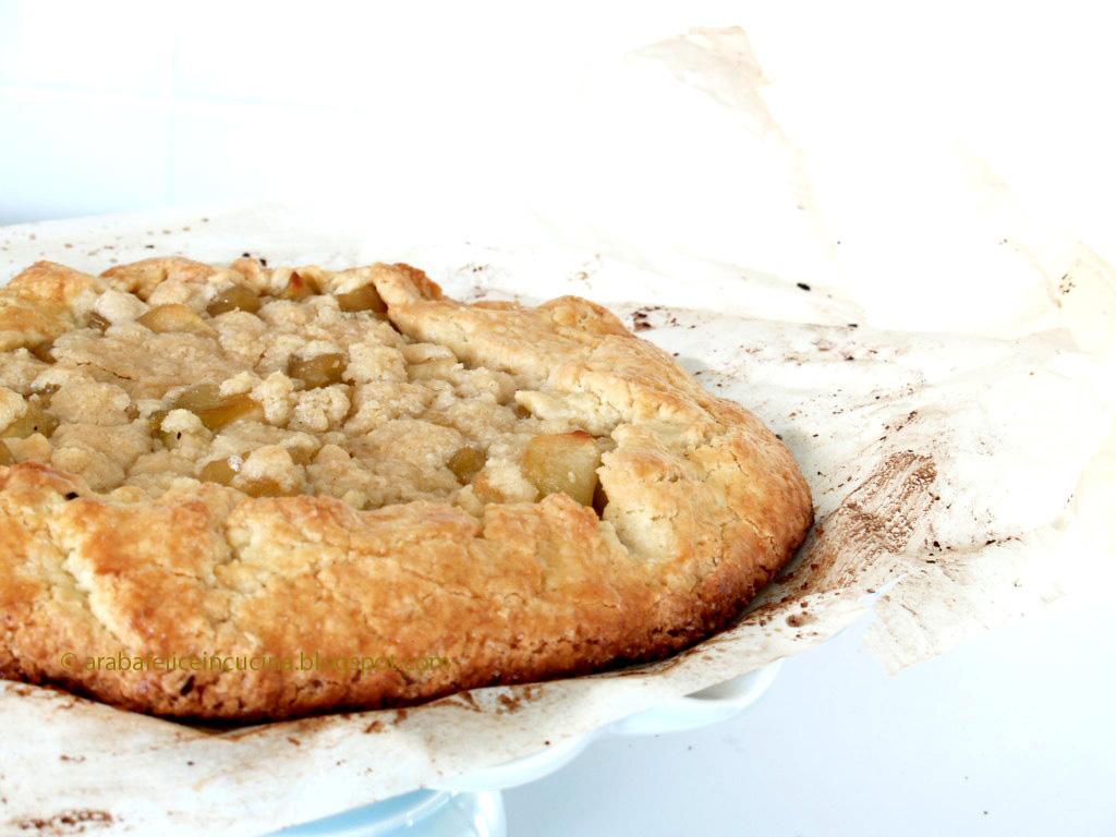 Arabafelice in cucina crostata rustica di mele con for Crostata di mele