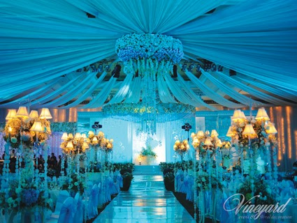 Vineyard event floral decoration surabaya under the sea for Sea themed decorating ideas