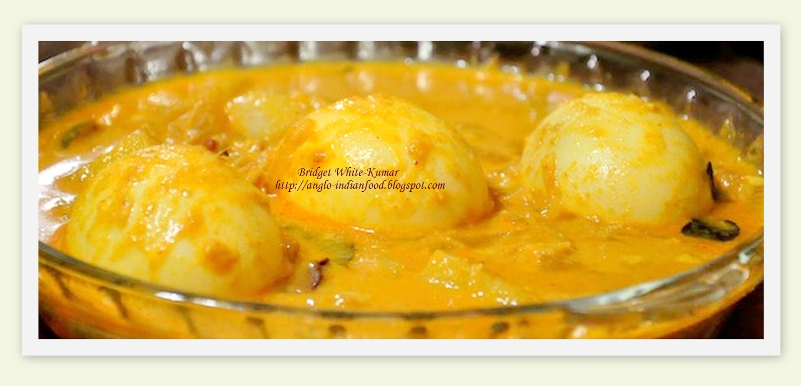 Anglo indian food by bridget white kumar egg moilee for Anglo indian cuisine