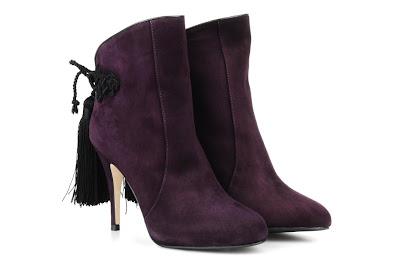 Tassel purple ankle boots from LK Bennett