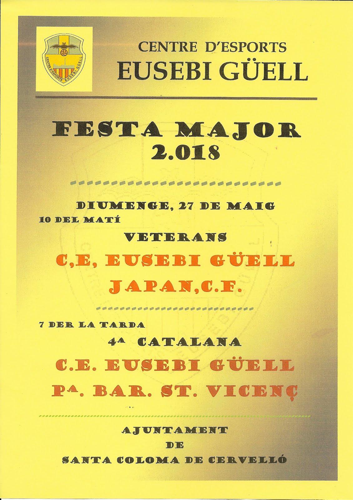 FESTA MAJOR 2018  -  PARTITS