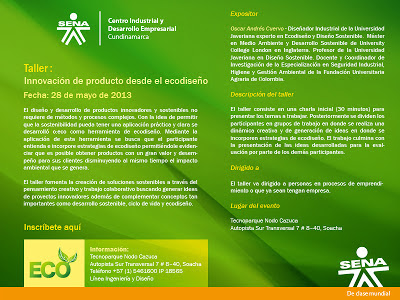 Innovación de producto desde el Ecodiseño Centro Industrial y Desarrollo Empresarial
