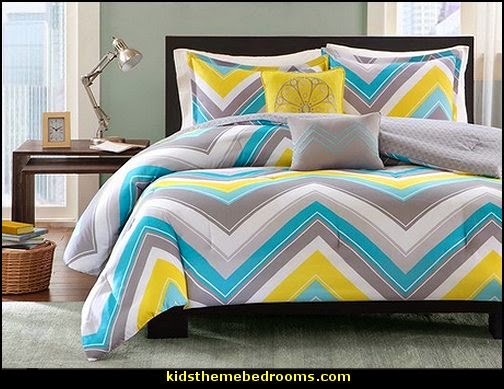 chevron bedding ariel 5 piece comforter set zig zag bedroom decorating