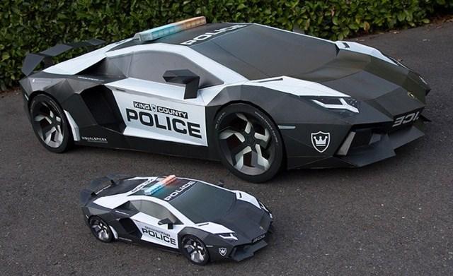 Wow! Mobil Lamborghini Aventador Ini Terbuat Dari Kertas