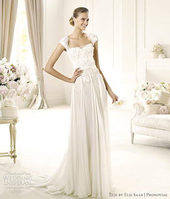 7106e30868c7 Cap Sleeves Bridal Wedding Gowns Pronovias