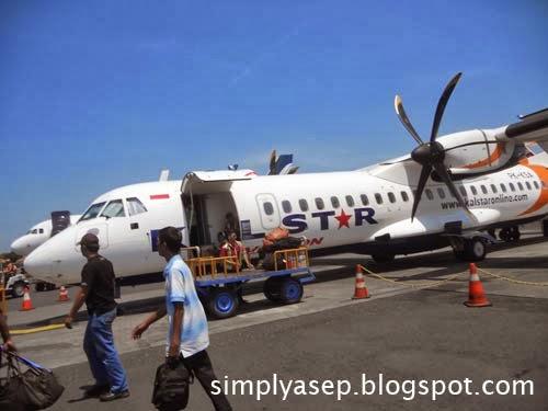 Inilah pesawat yang saya tumpangii  Foto Asep