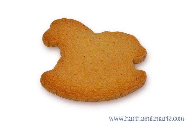 galleta con forma de caballo de juguete