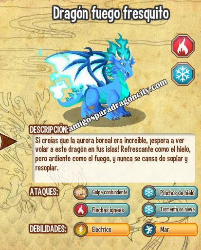 imagen de las caracteristicas del dragon fuego fresquito