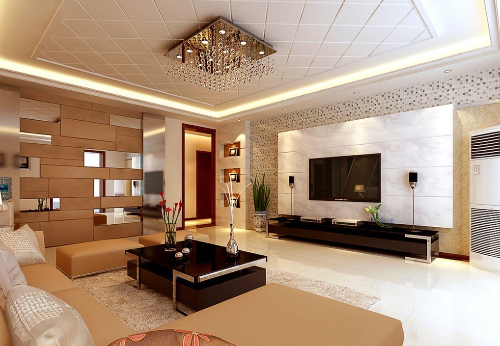 Living Room Interior Design With Gypsum Ceiling Part 13