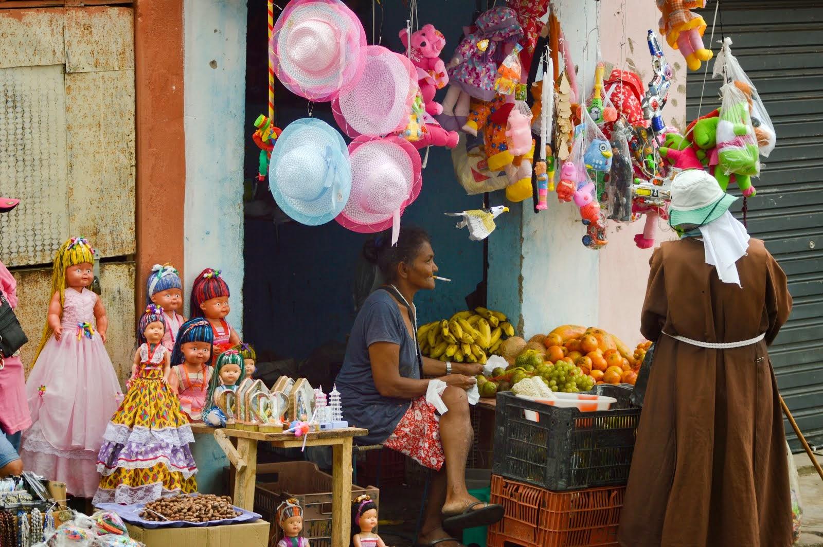 De casa para o comércio nas ruas