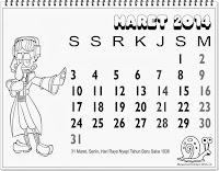 kalender indonesia lengkap 2014 untuk anak maret