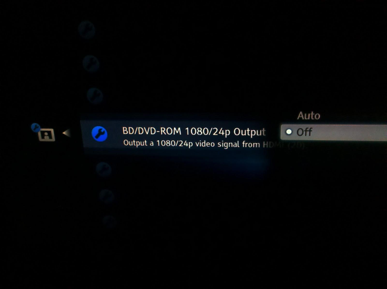3D blu-ray 1080p setting
