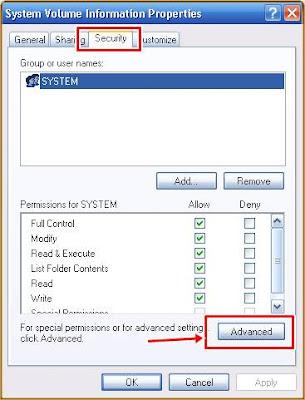 System Volume Information Properties
