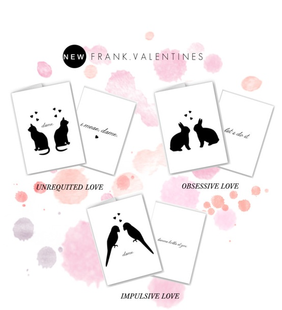 Funny, frank, and anti-valentine cards now in the shop