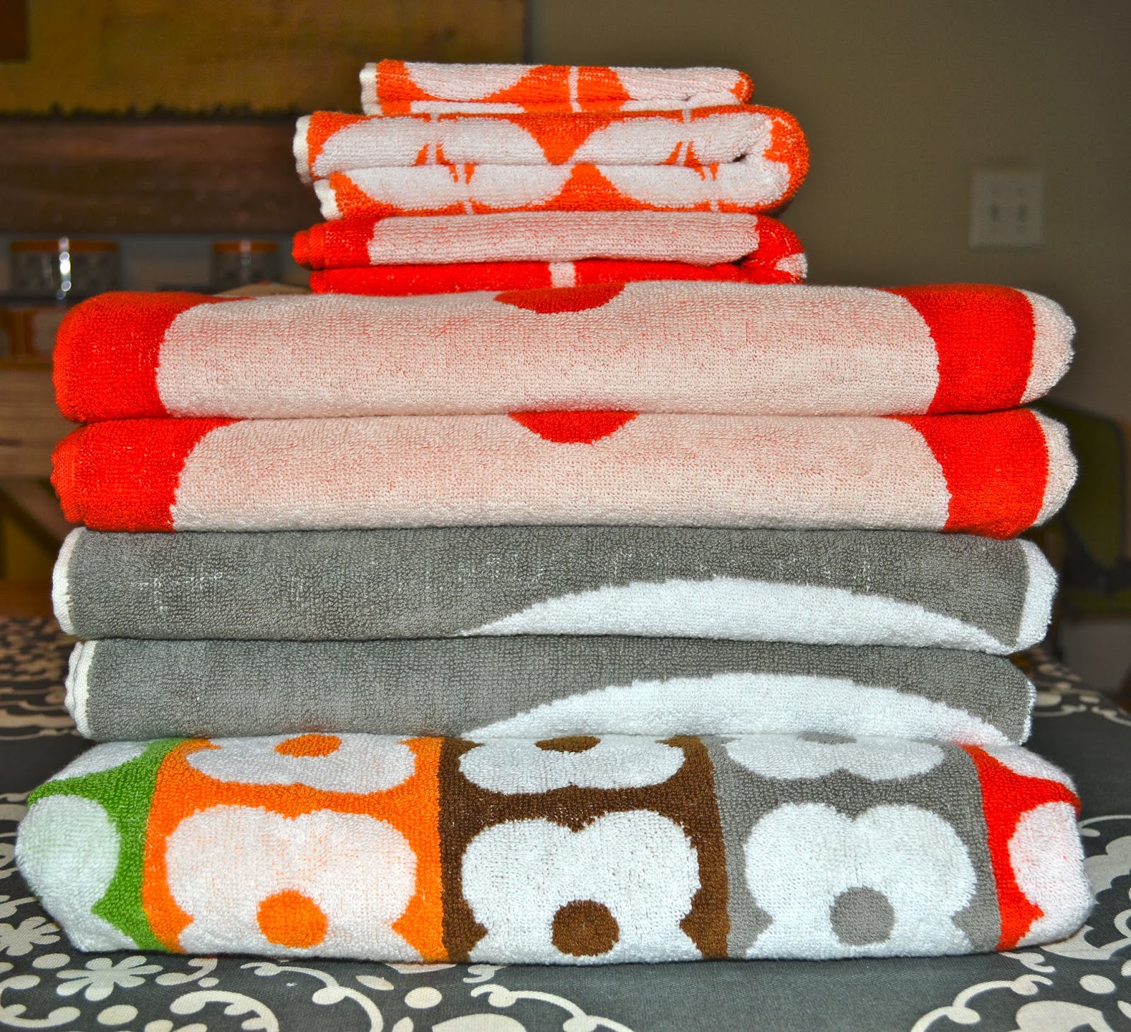 i love orla kiely orla kiely towels at home goods. Black Bedroom Furniture Sets. Home Design Ideas