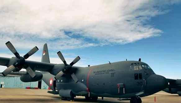 Gambar spesifikasi pesawat Hercules C-130 Milik TNI Angkatan udara (AU) Indonesia