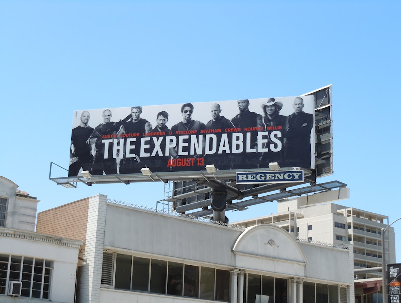 The Expendables movie billboard