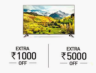 Snapdeal: Buy TOP Selling Television and Get Extra Rs. 1000 off on Rs. 20000, Rs. 5000 off on Rs. 50000