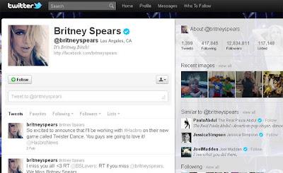 Twitter da Britney Spears