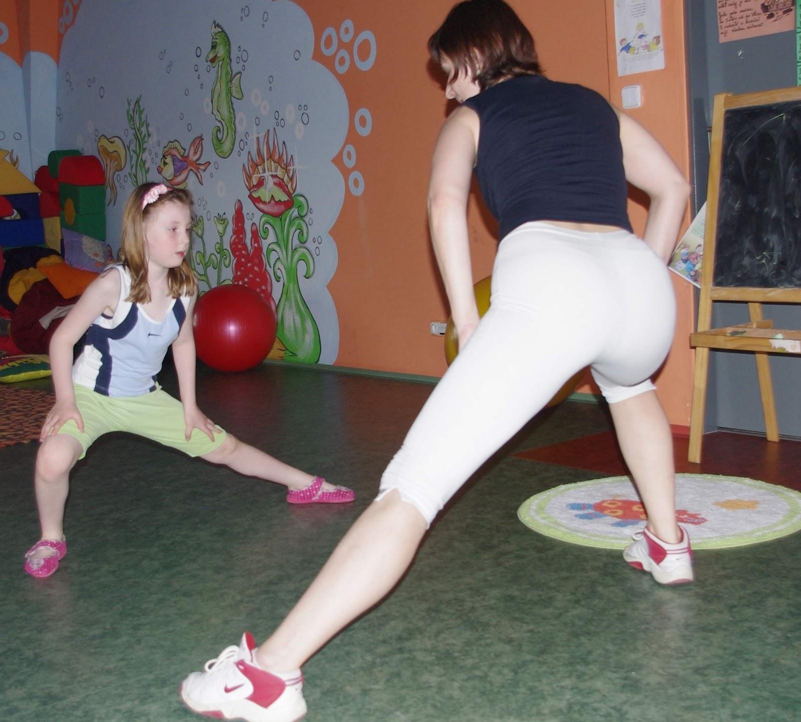 Foto: aerobik pro děti se rozbíhá