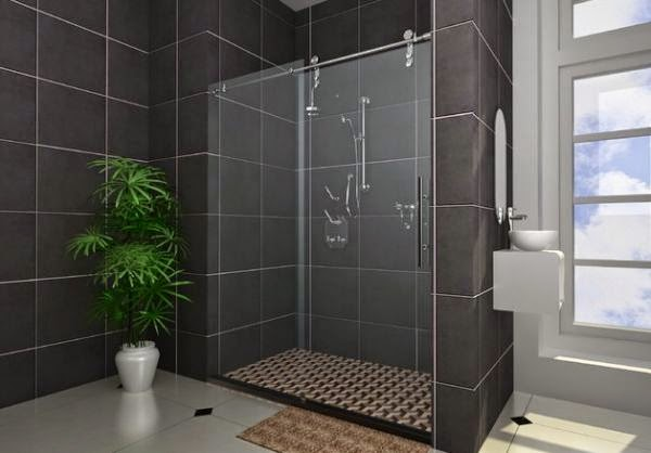 Gambar Desain Kamar Mandi Modern Minimalis Menggunakan Shower
