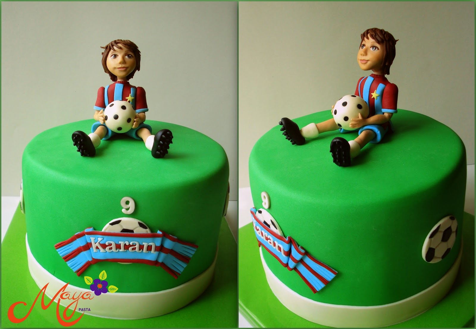 Football player cake