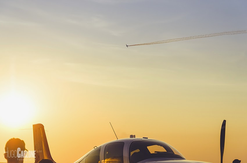 Pôr-do-Sol na 17ª Feira Internacional de Aviação em Maringá