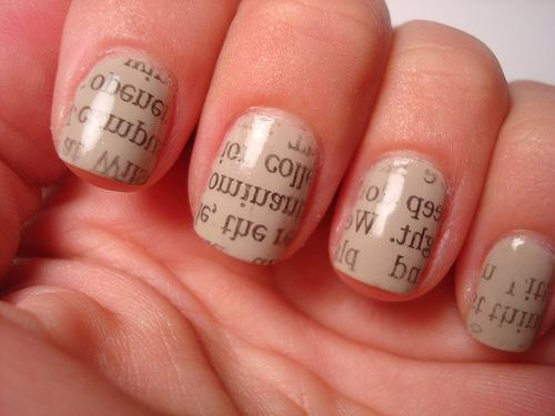 - Journaliste Cherche Job: Newspapers Nails: Cool Nail Art