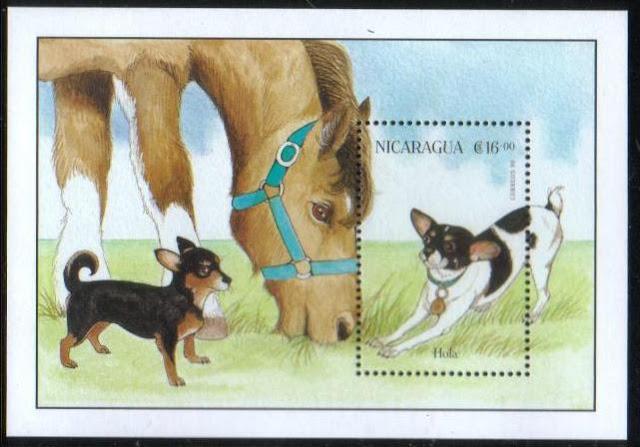 1996年ニカラグア共和国 チワワの切手シート