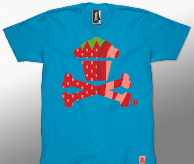 Johnny Cucpcakes Summer Fruit Mini Series - Strawberry Cupcake & Crossbones T-Shirt