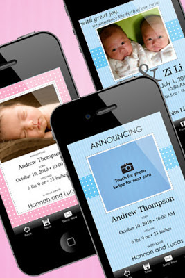 App to create Birth Announcement