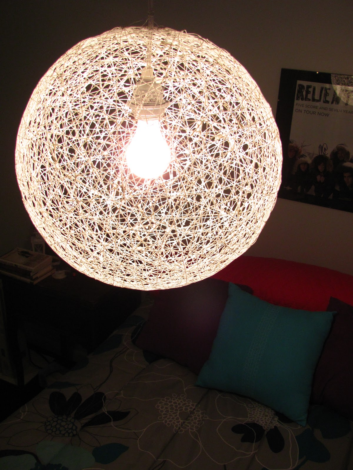 Diy Chandelier String Lights : Carey Creates: DIY String Chandelier
