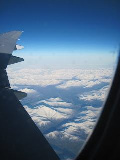 Brooks Range in Alaska from airplane