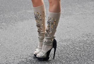 Sandalo con calzino (Scarpa Balenciaga, Calzino MiuMIu