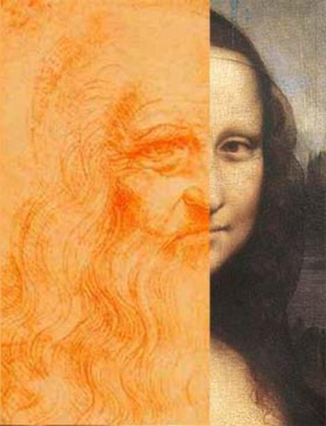 Leonardo Da Vinci Self Portrait Of Himself Academic-Capital: Mona...